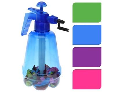 pumpička na vodní bomby 1,7l + balonky (100ks) - mix barev