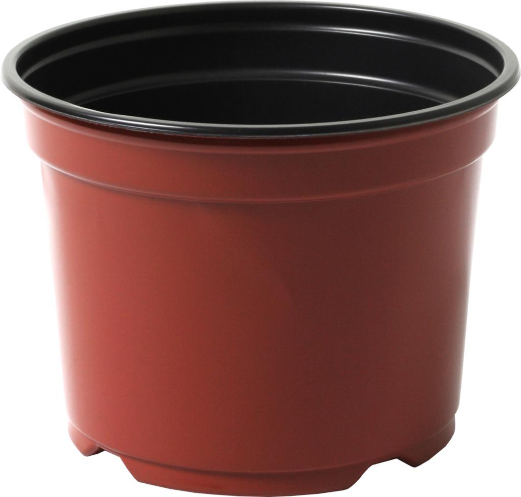 Květináč - kontejner Desch 12 cm - terakota / černý - 10 ks