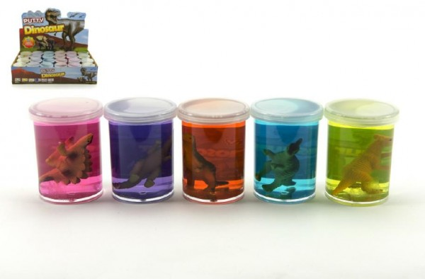Sliz - hmota 80g dinosaurus 6cm - mix barev