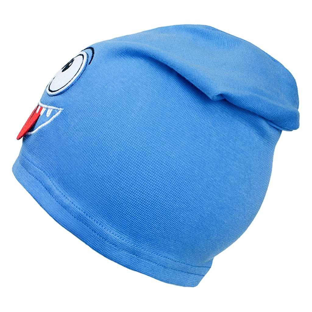 Podzimní dětská čepička New Baby smíšek světle modrá - 110 (4-5r)