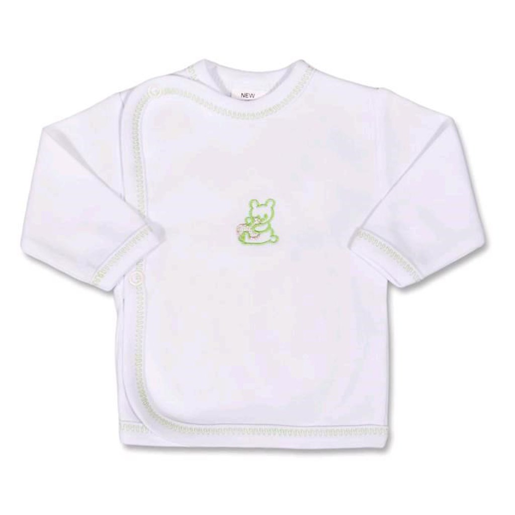 Kojenecká košilka s vyšívaným obrázkem New Baby zelená - 62 (3-6m)