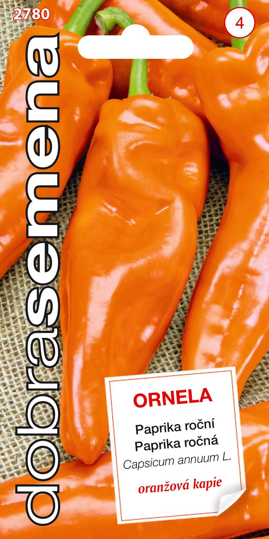 Dobrá semena Paprika zeleninová - Ornela, kapie oranžová 0,5g