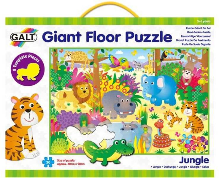 Velké podlahové puzzle – zvířátka v džungli