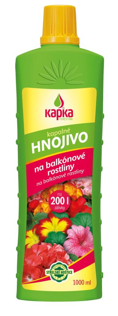 Hnojivo KAPKA na balkónové rostliny 1000ml
