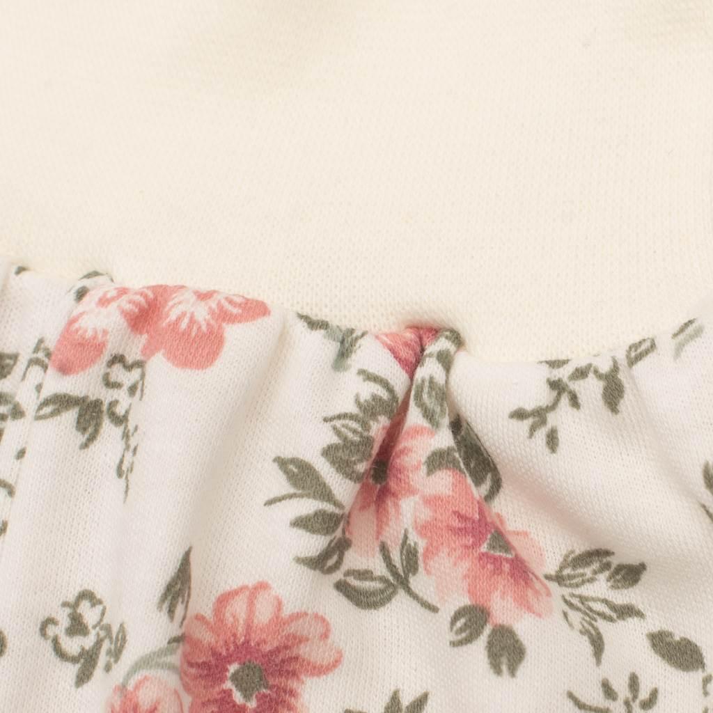 Kojenecké tepláčky New Baby Flowers béžové - 80 (9-12m)