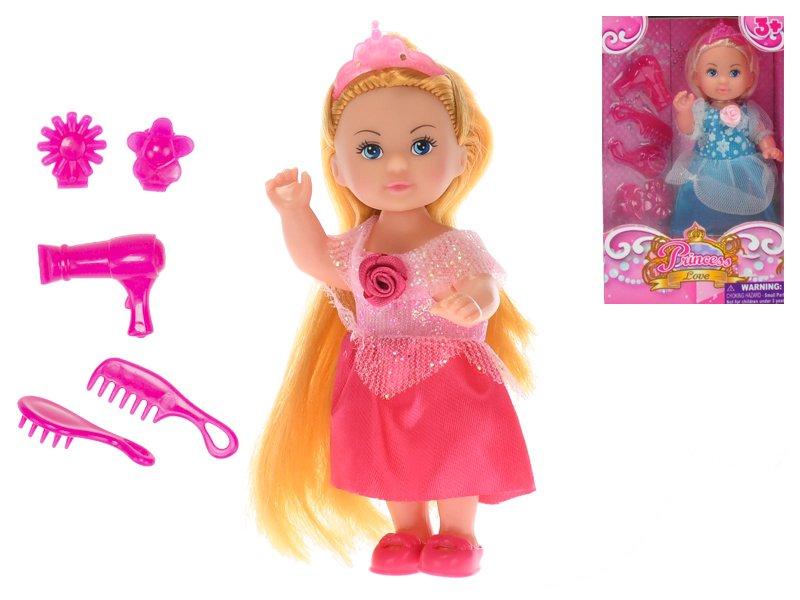 Panenka princezna 12 cm s doplňky - mix barev