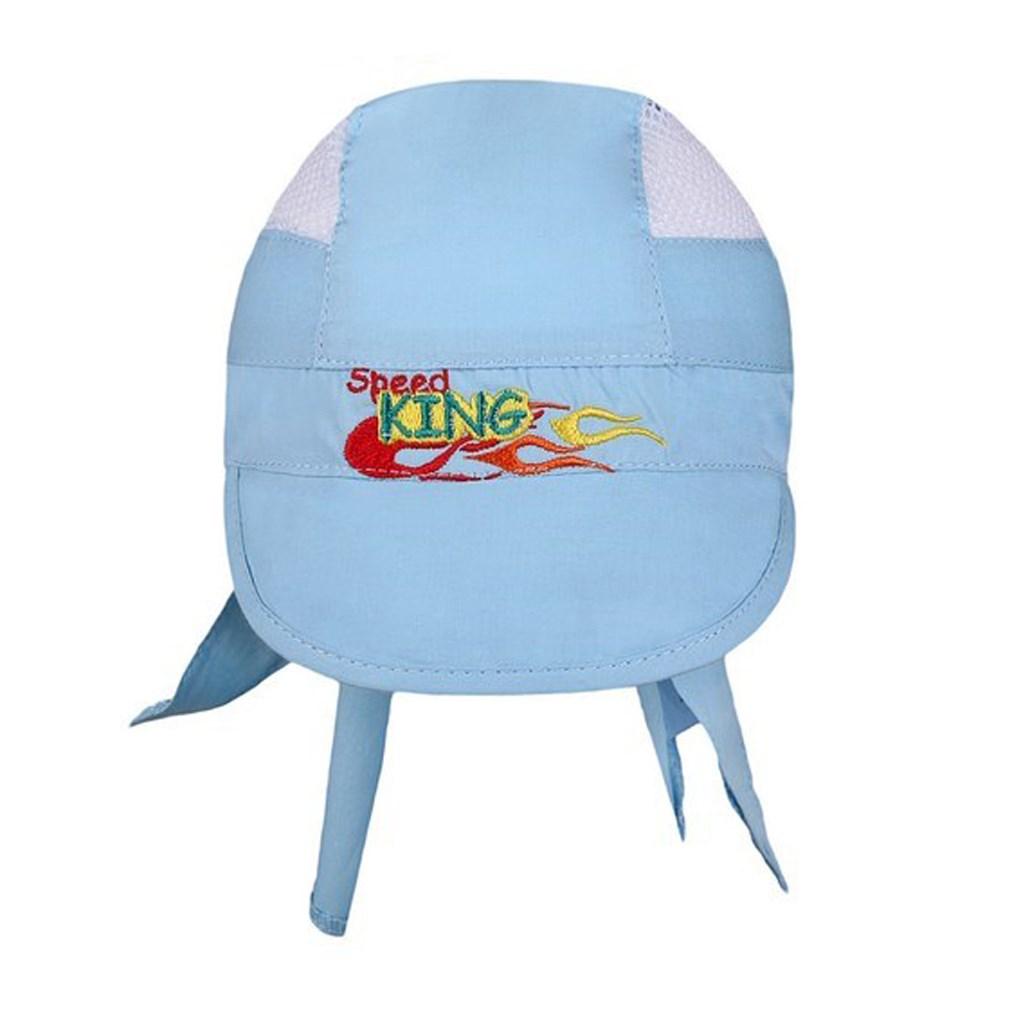 Letní dětská čepička-šátek New Baby Speed King modrá - 110 (4-5r)