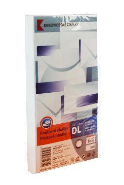 Obálka dl. bílá samolep. okénko DL 50ks 110x220mm