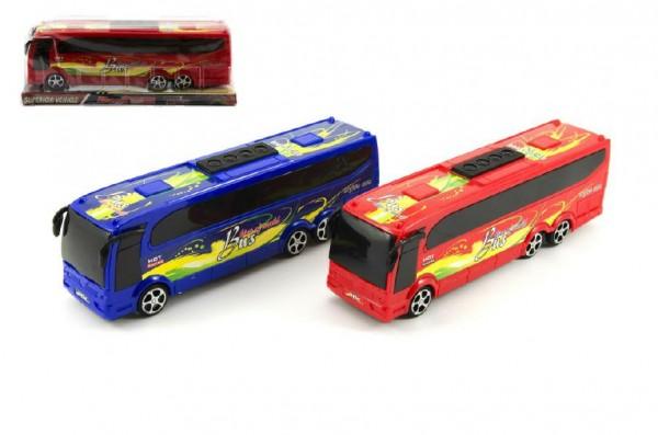 Autobus plast 25cm na setrvačník - mix barev