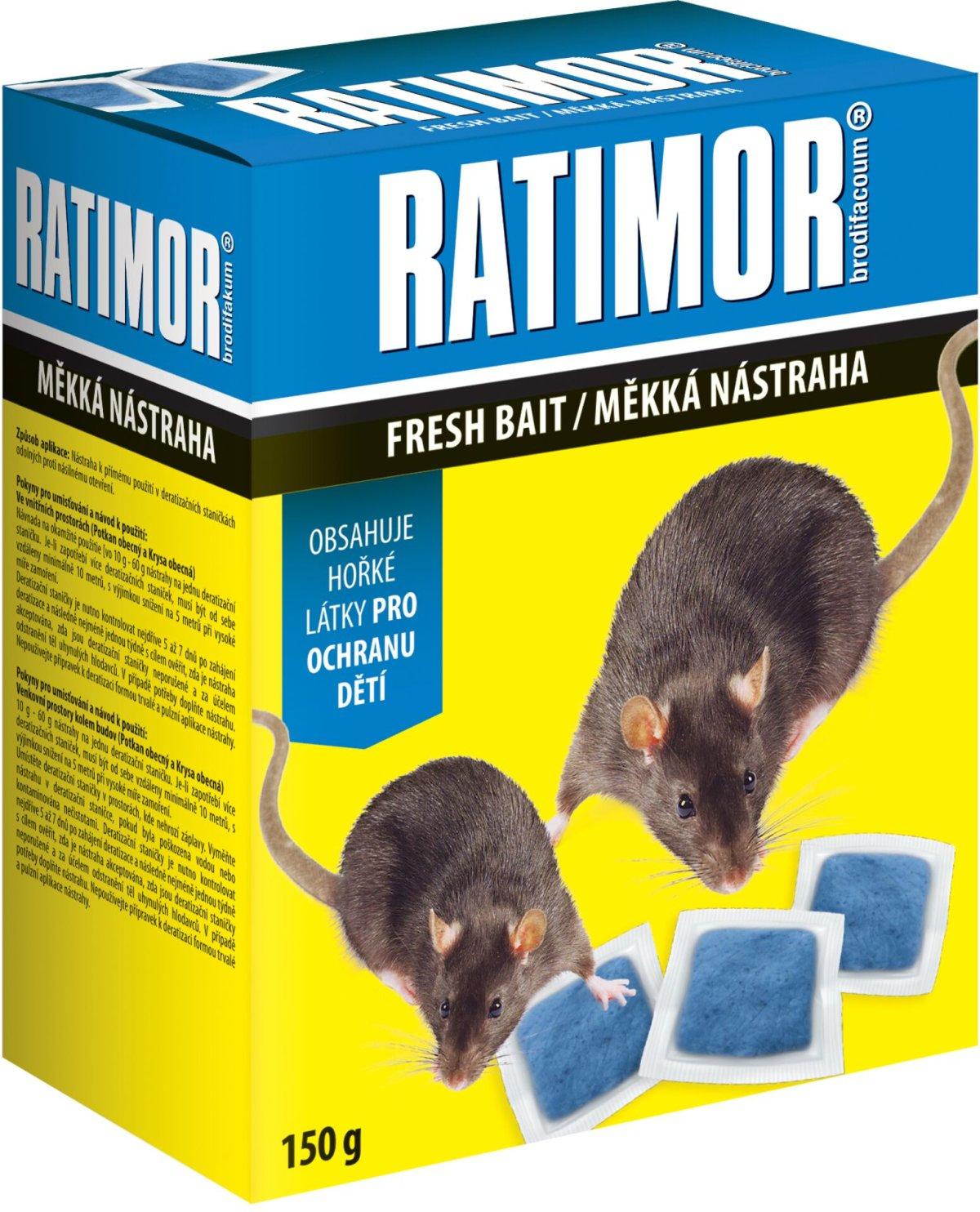 Rodenticid RATIMOR měkká návnada krabička 150g