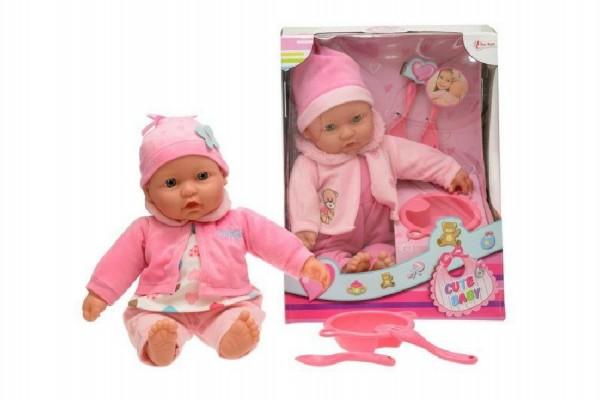 Panenka miminko měkké tělo s doplňky plast 40cm - mix barev