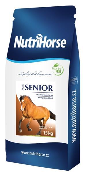 Nutri Horse Müsli - Senior 15 kg NOVÝ