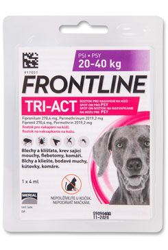 FRONTLINE TRI-ACT spot-on pro psy L (20-40 kg)-1x4ml