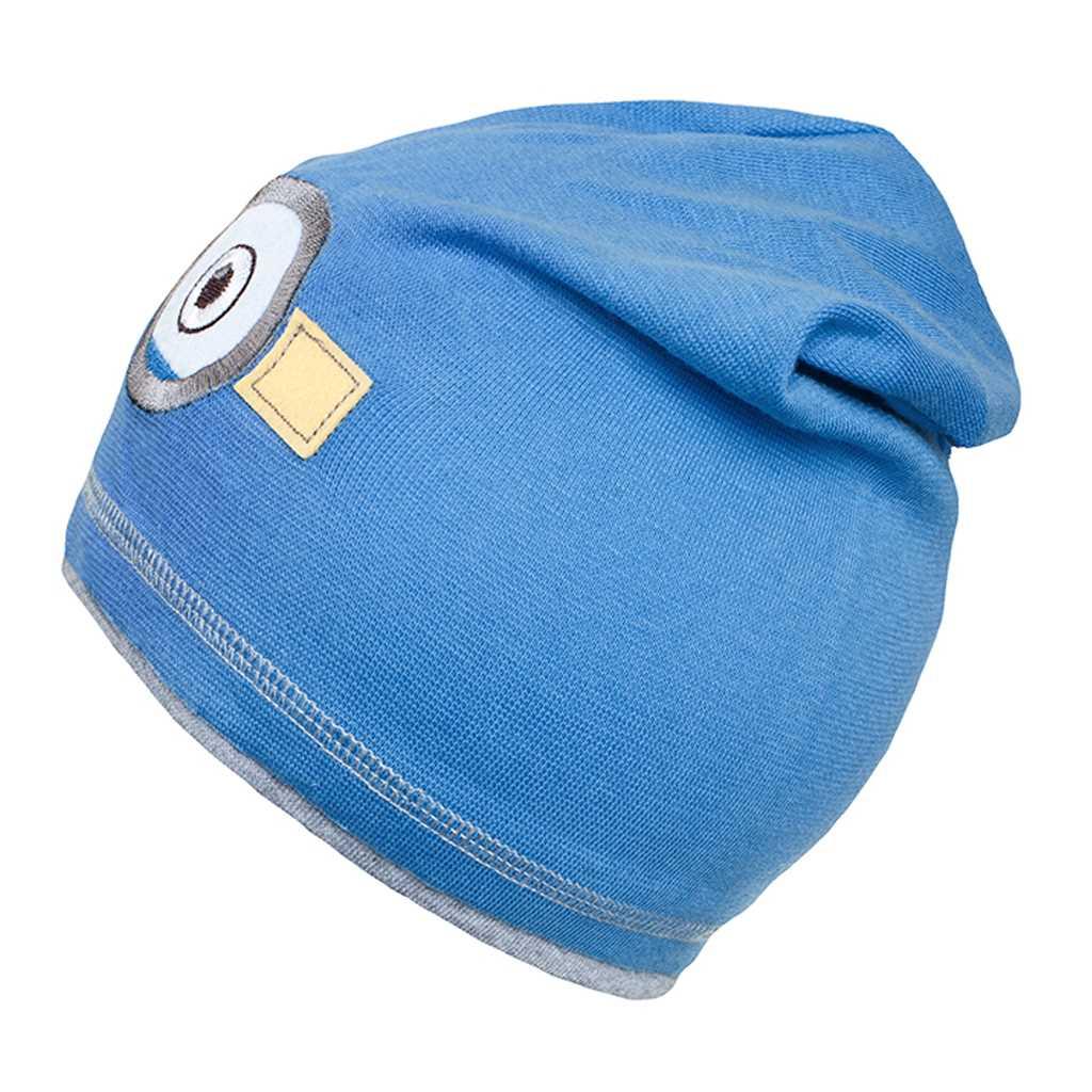 Podzimní dětská čepička New Baby mimoň světle modrá - 110 (4-5r)