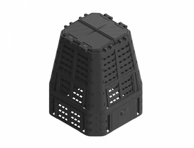 Komposter PROMO plastový černý 740l