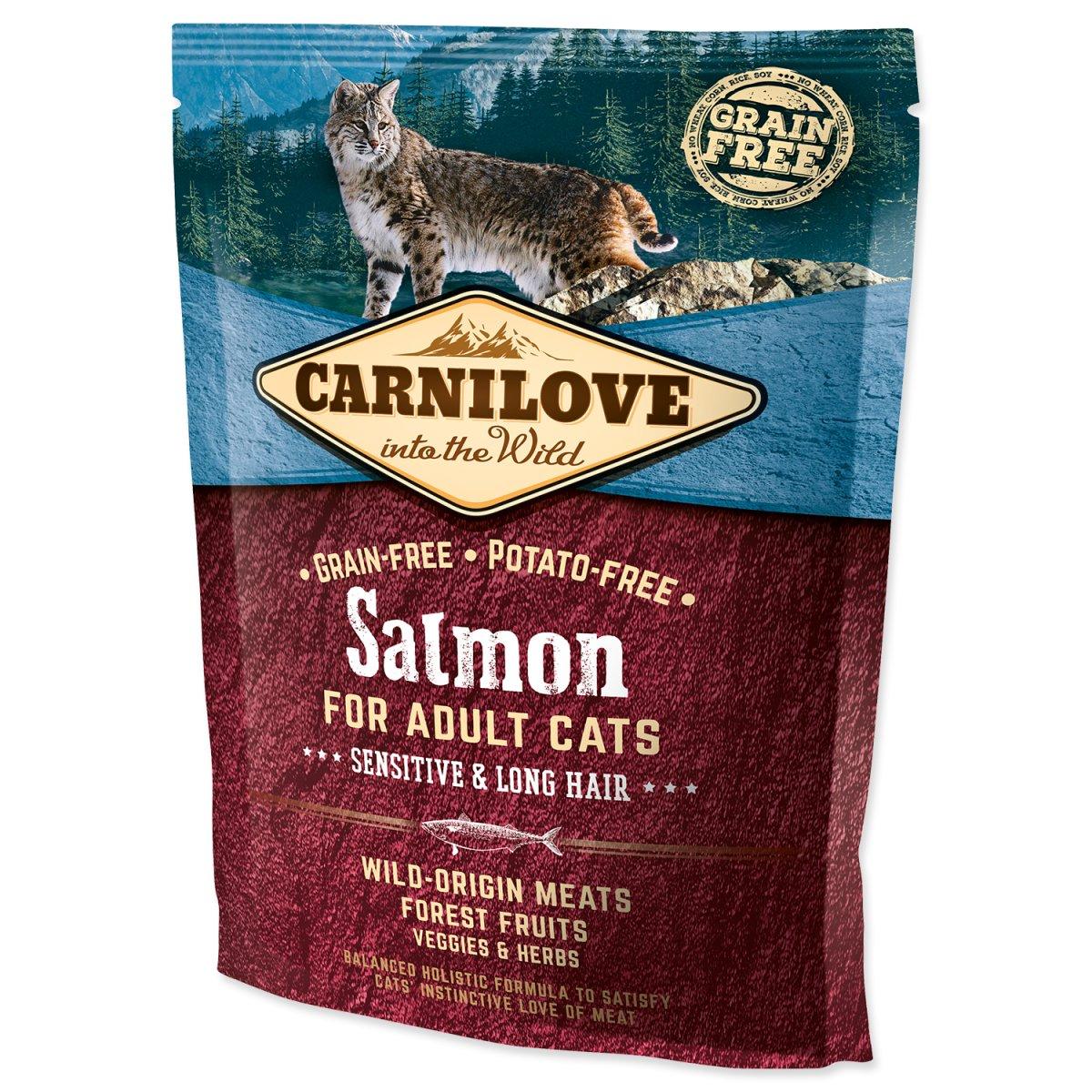 CARNILOVE Salmon Adult Cats Sensitive and Long Hair (400g)