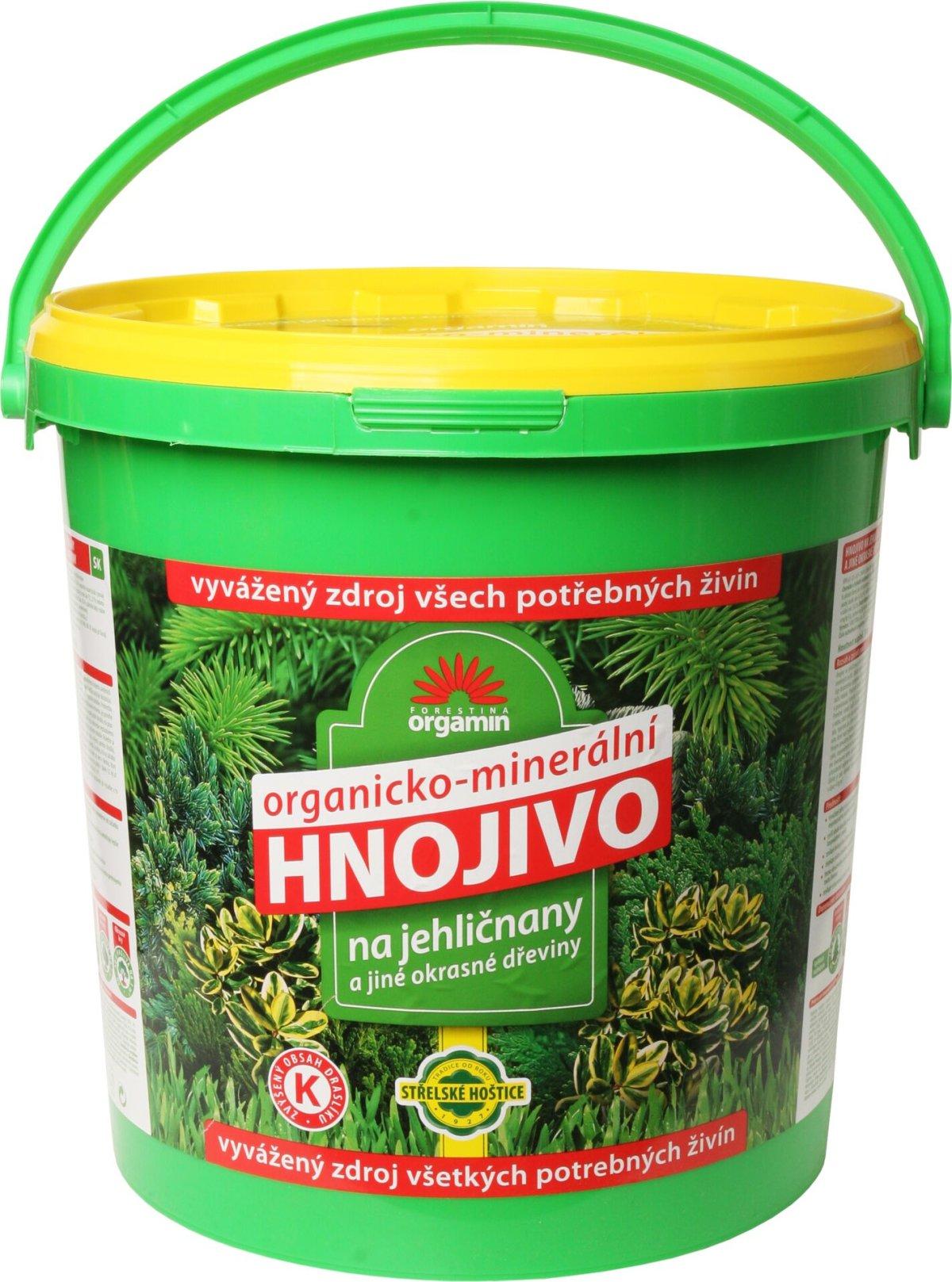 Hnojivo ORGAMIN na jehličnany a okrasné dřeviny 10kg
