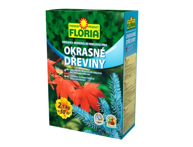Hnojivo FLORIA organo-minerální na okrasné dřeviny 2,5 kg