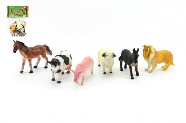 Zvířátka domací farma 6ks plast 9cm v sáčku