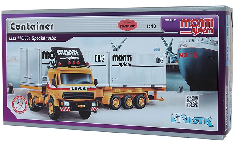 Stavebnice Monti System MS 08.2 Container Liaz 1:48