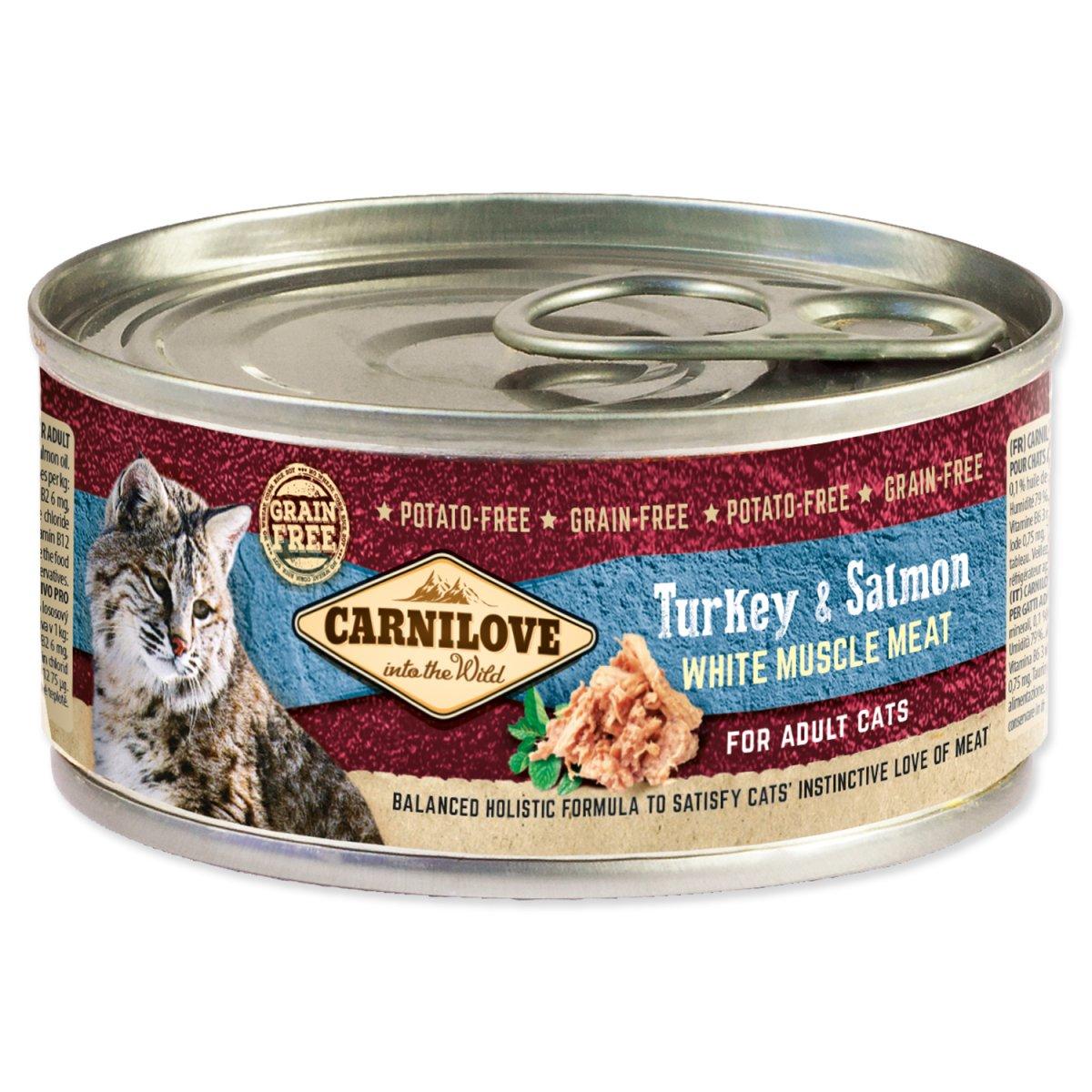 Konzerva CARNILOVE WMM Turkey & Salmon for Adult Cats (100g)
