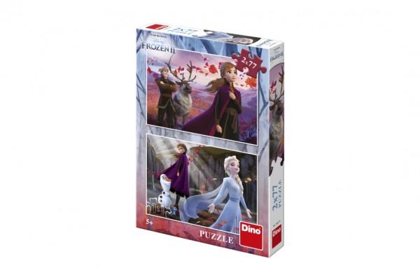 Puzzle 2v1 Ledové království II/Frozen II 2x77dílků