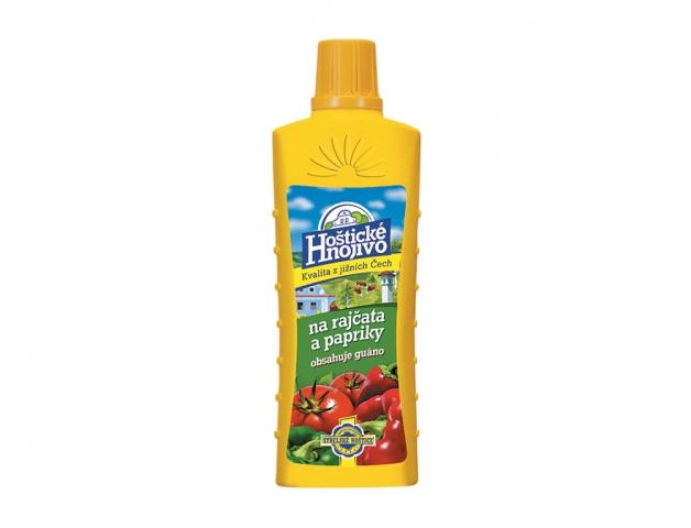Hnojivo HOŠTICKÉ na rajčata a papriky s guánem 500ml