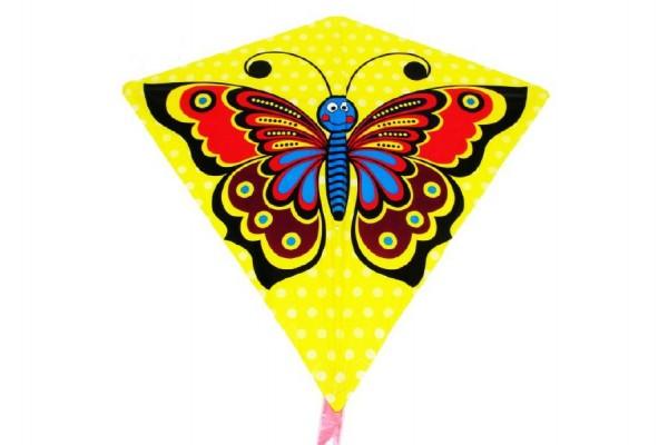 Drak létající motýl plast 68x73cm