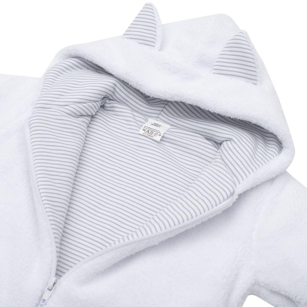 Luxusní dětský zimní kabátek s kapucí New Baby Snowy collection - 56 (0-3m)