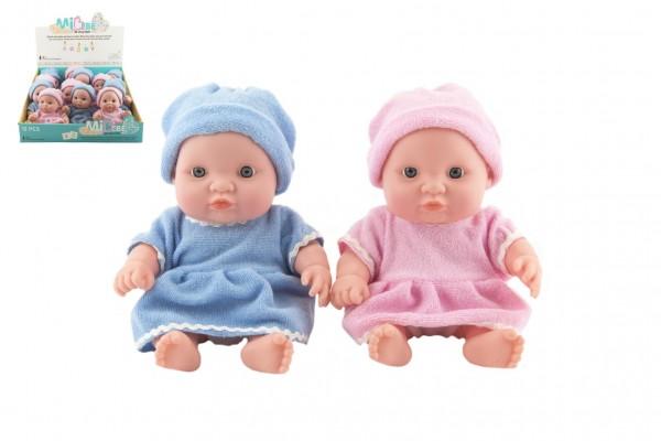 Miminko panenka pevné tělo plast 20cm - mix barev