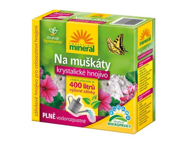 Hnojivo MINERAL krystalické na muškáty + lignohumát 400g