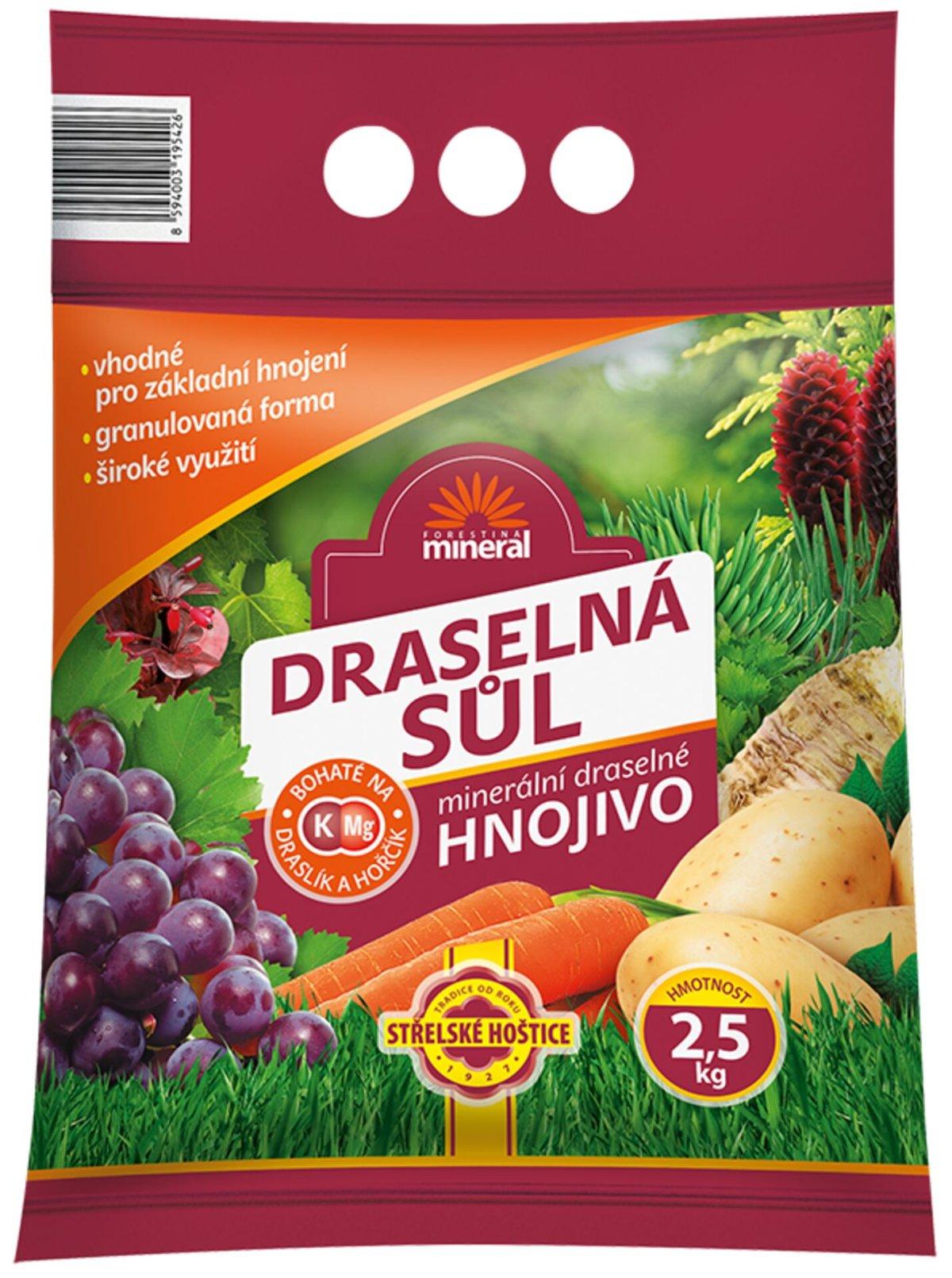 Sůl draselná 40% MINERAL 2,5kg