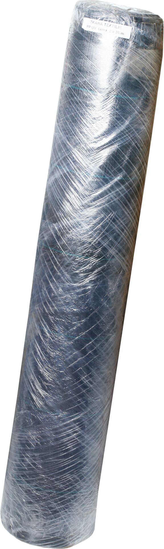 Tkaná textilie 90g - 2 x 25 m černá - 1 rol