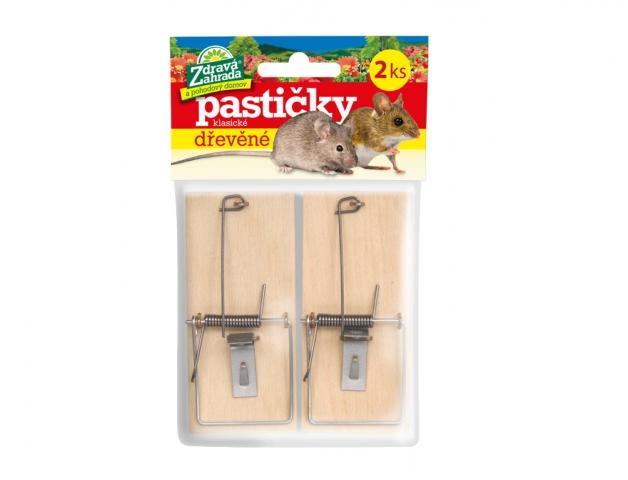 Past na myši dřevěná 2ks