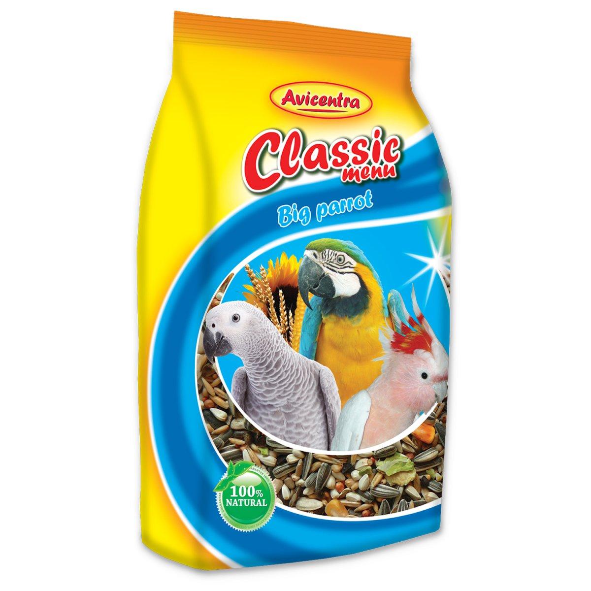 AVICENTRA standard krmivo pro velké papoušky (1kg)