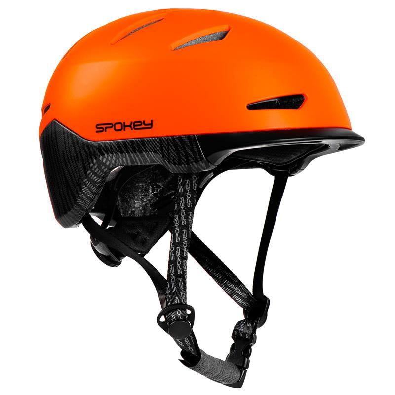 Spokey DOWNTOWN Cyklistická přilba BMX pro dospělé IN-MOLD, 55-58 cm, oranžová