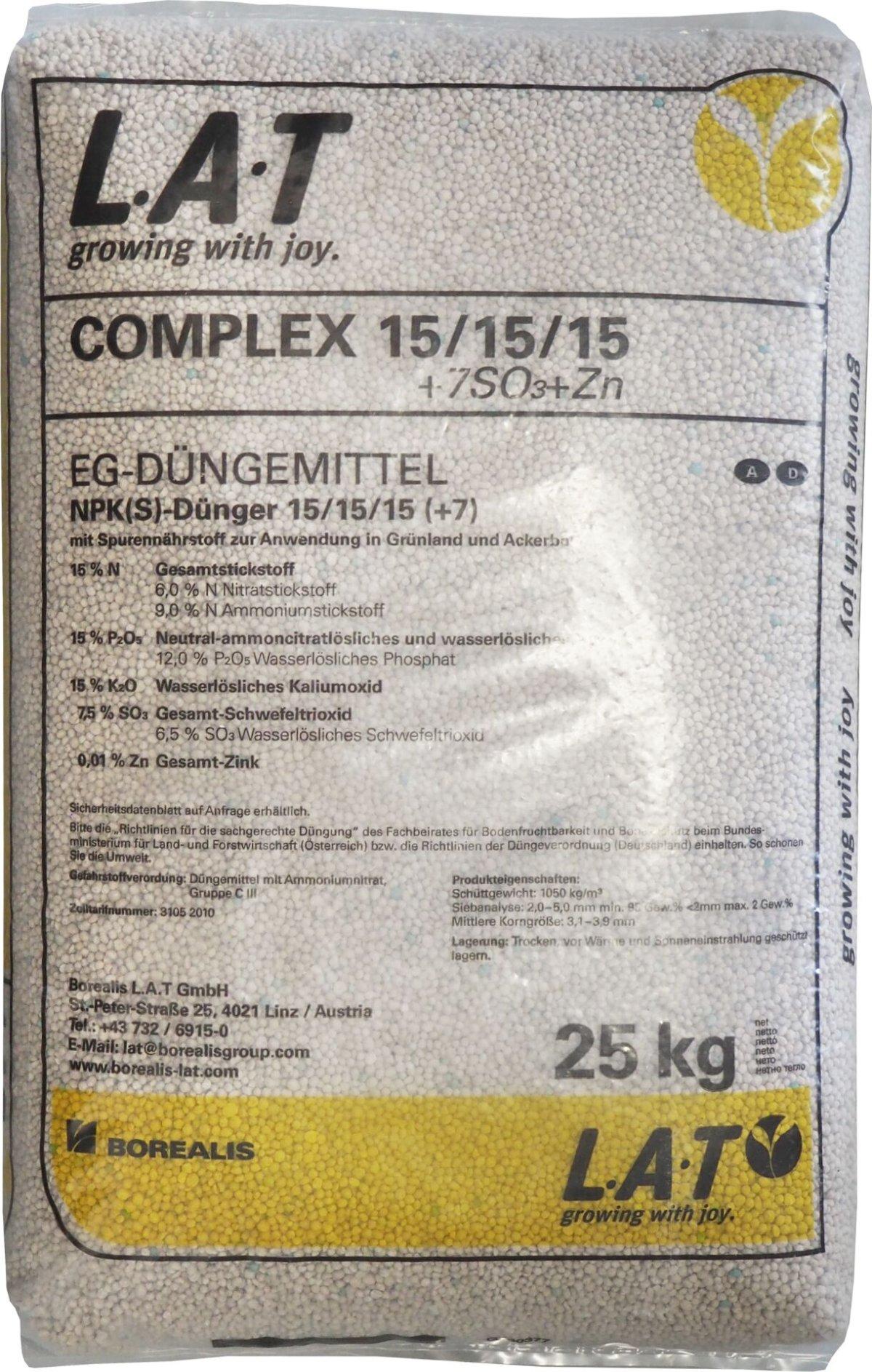NPK - 25 kg /minerální 15-15-15/