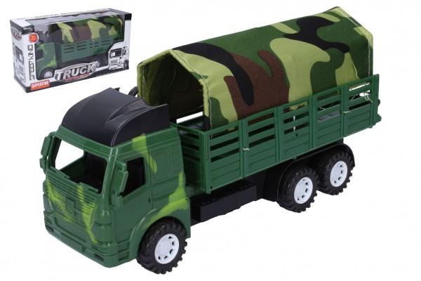 Auto vojenské nákladní s plachtou plast 28cm