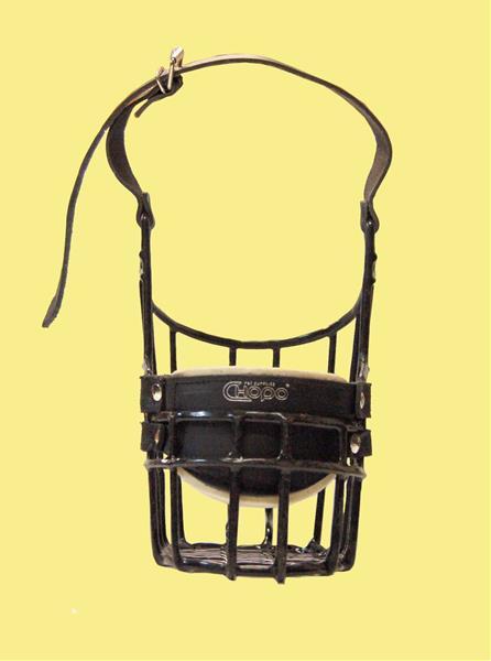Náhubek kovový Knírač velký - pes, gumoplast 135 x 175 x 100 mm