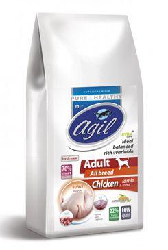 Agil Adult All Breed Low Grain Chicken,Lamb,Tuna 10kg