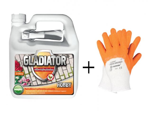 Set herbicid GLADIATOR HOBBY 3l + rukavice ZDARMA