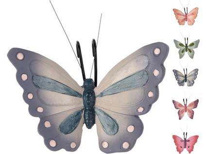 dekorace závěs MOTÝL 13x10,5x5cm, polyston - mix variant či barev