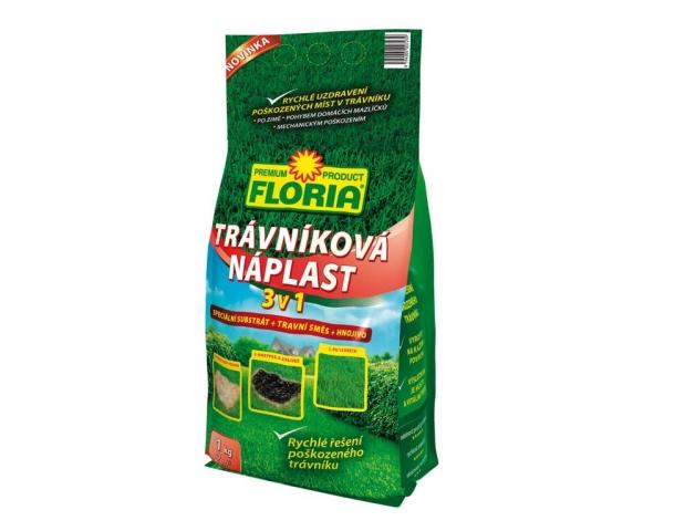 Náplast trávníková 3v1 - substrát+travní směs+hnojivo 1kg