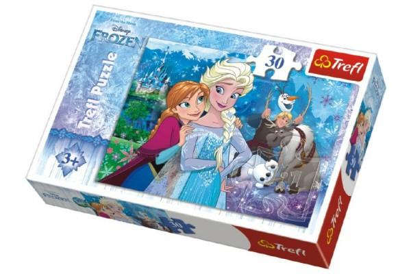 Puzzle Frozen/Ledové království 27x20cm 30 dílků