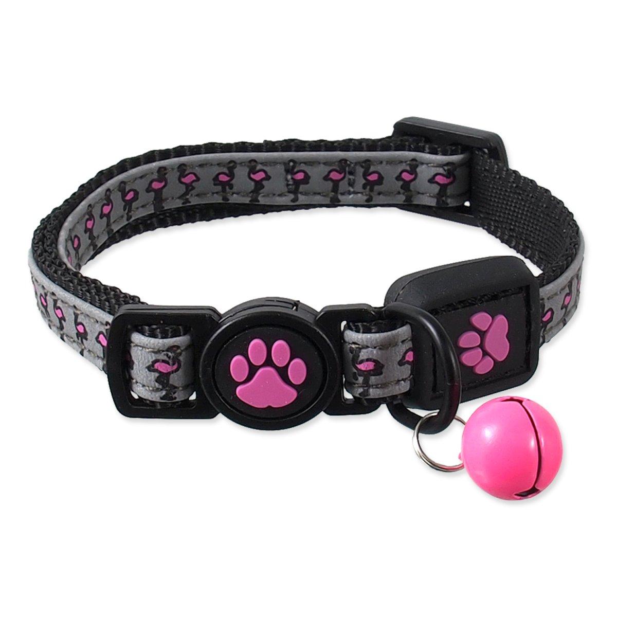 Obojek ACTIVE CAT Reflective růžový XS (1ks)