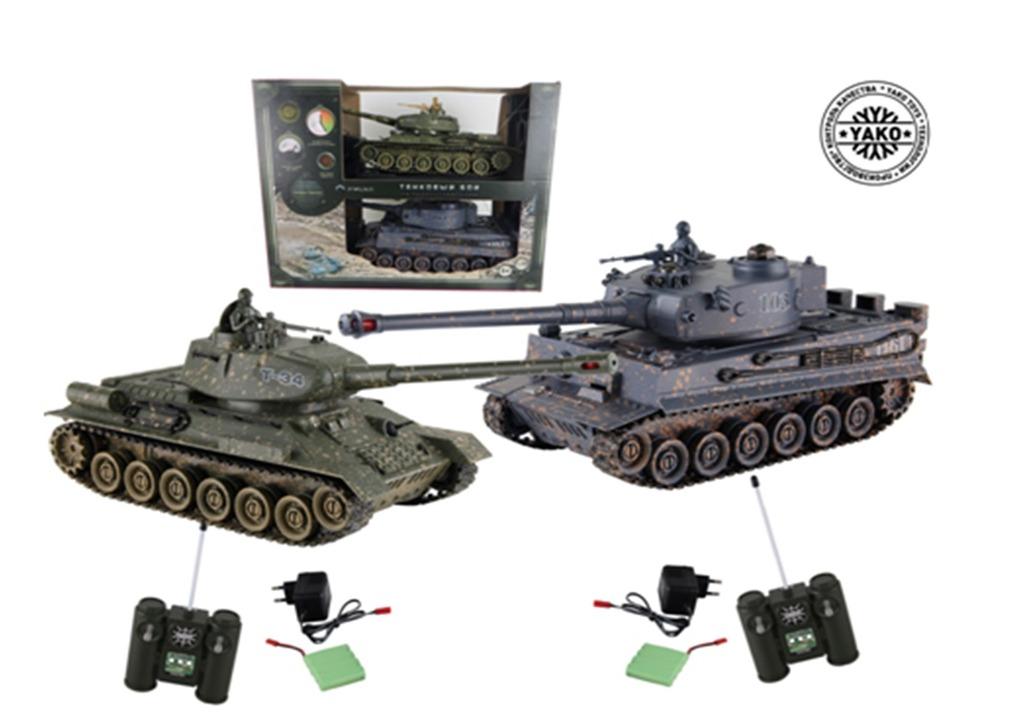 RC tank T34 vs Tiger (sada 2ks) 1:24