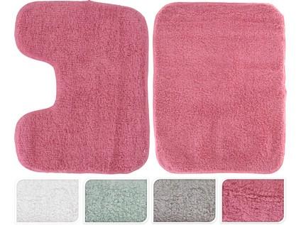 předložka koupelnová sada 2díl.(50x70cm, 40x50cm) - mix barev