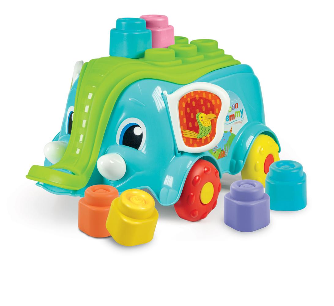 Clemmy baby - Vozík slon s kostkami