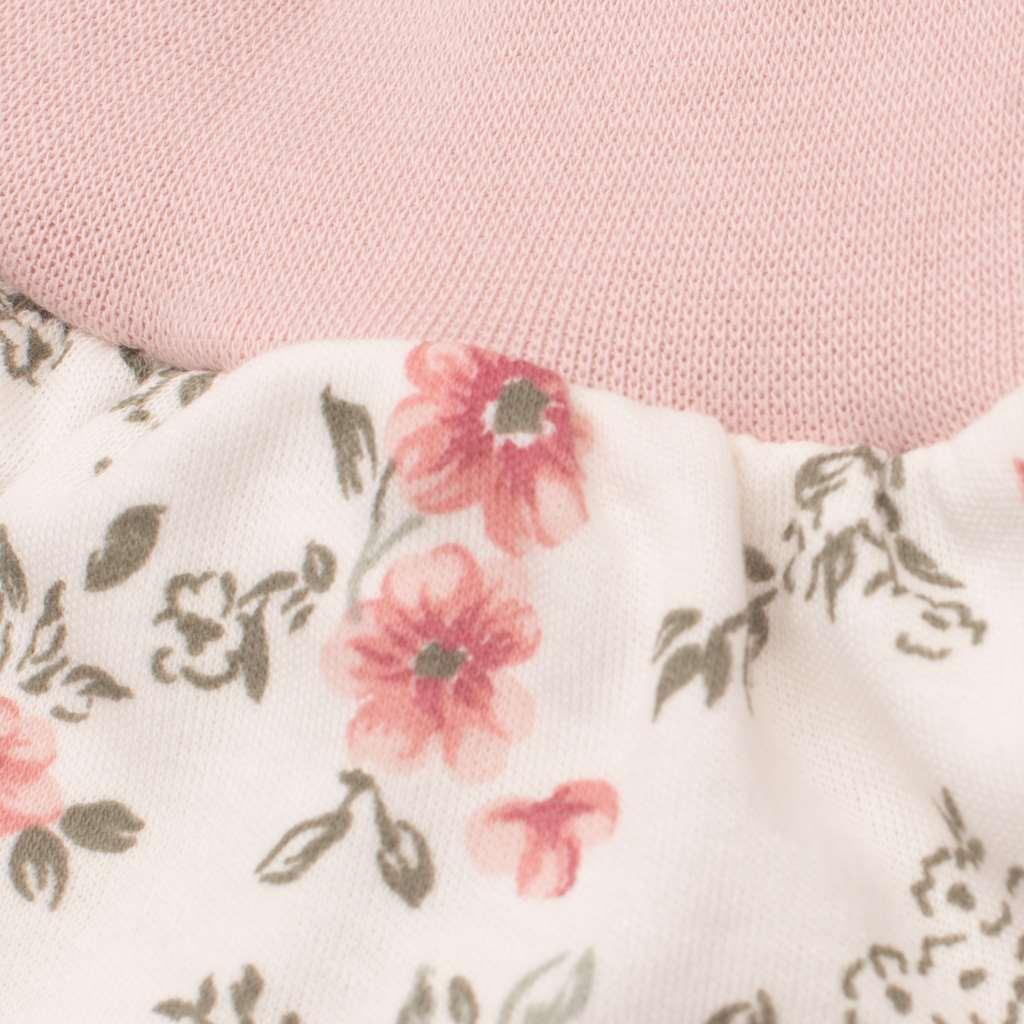Kojenecké tepláčky New Baby Flowers růžové - 56 (0-3m)