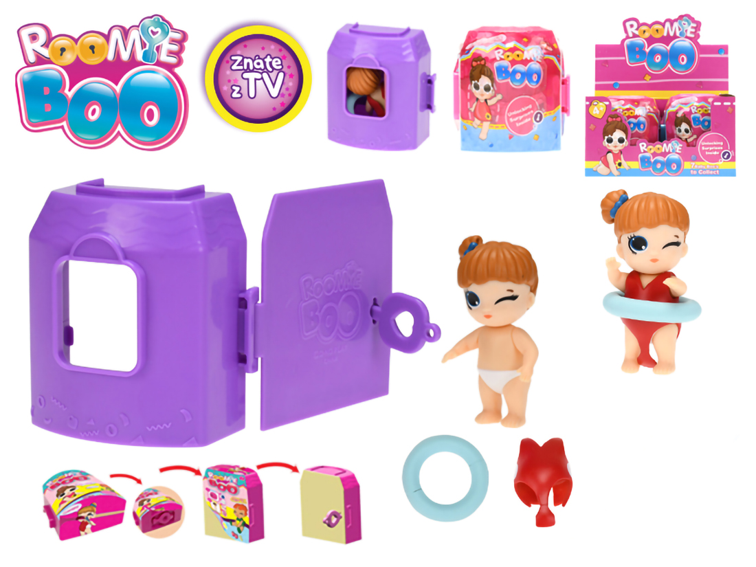 Roomie Boo Surprise panenka + šaty s doplňky v domečku - mix variant či barev